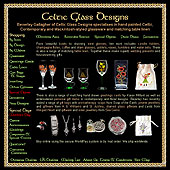 Screenshot of the Celtic Glass Designs site