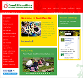 Screenshot of the Food4families site