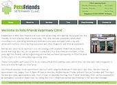 Screenshot of Pets Friends Veterinary Clinic site